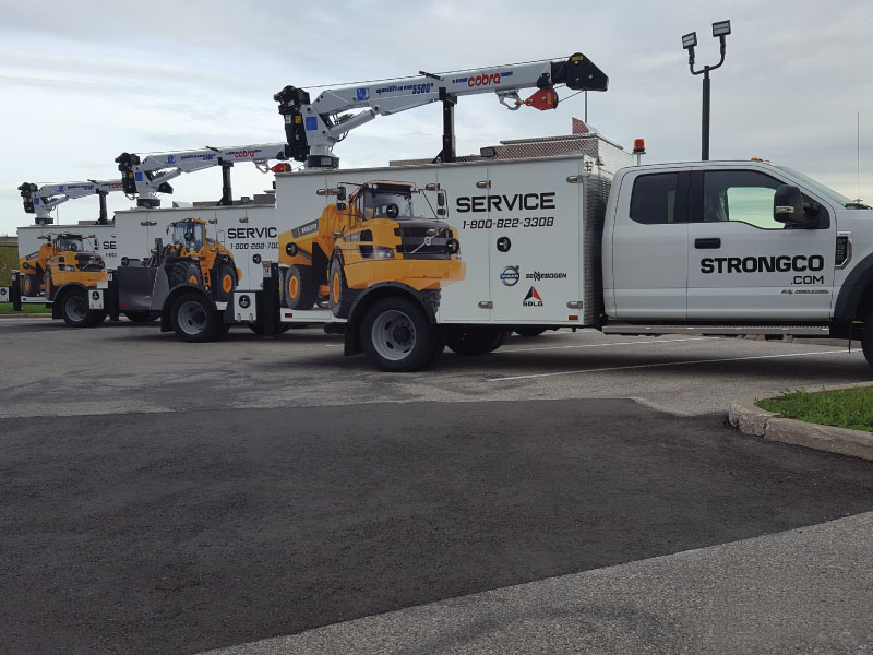 Fleet Wrap for Strongco in Mississauga